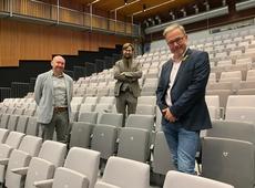 Vlnr: Johan De Poorter (voorzitter), Jorgen Deman (secretaris), Hein Depoorter (ondervoorzitter)