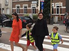Veilige schooldag in de Oudenaardsesteenweg